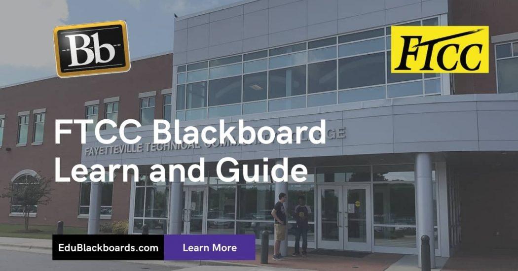 FTCC Blackboard Learn & Login Guide