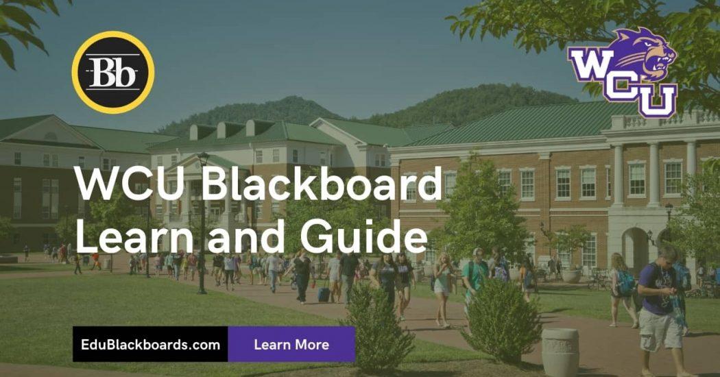 WCU Blackboard Learn & Login Guide